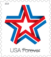 USPS Star Ribbon Stamp 2019