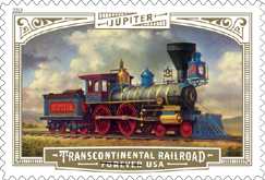USPS Transcontinental Railroad Forever Stamp of Jupiter 2019