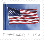 USPS - US Flag Stamp, 2019