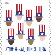 USPS - Uncle Sam's Hat stamp - additional ounce, 2019